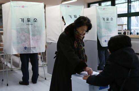 S. Korea Park Leads Close Presidential Race, Exit Polls Show