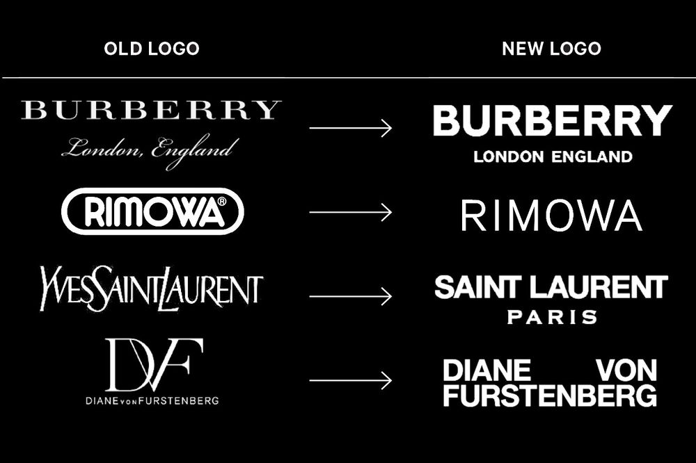 37501392b32 Why Fashion Brands All Use the Same-Style Font in Their Logos ...