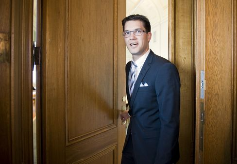 Leader of Sweden's Anti-Immigrant Party Jimmie Aakesson
