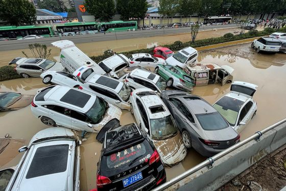 Chinese CityHit by Deadly Floods Had Heatwaves Days Before