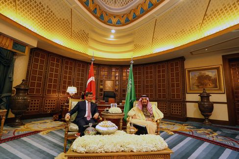 Turkish PM Ahmet Davutoglu in Saudi Arabia