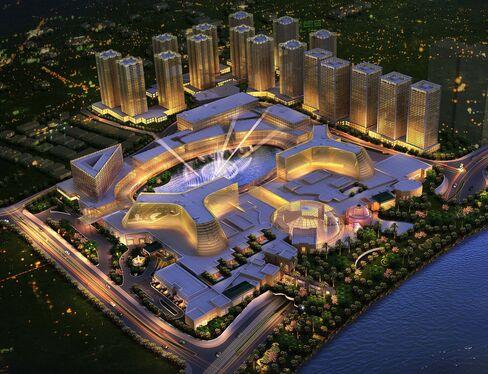 Rendering of the Manila Bay casino resorts.