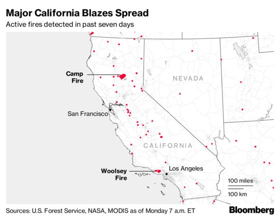 California Wildfires Have Burned Almost 200,000 Acres