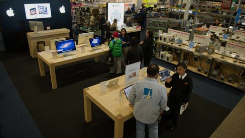 Apple Department inside Best Buy