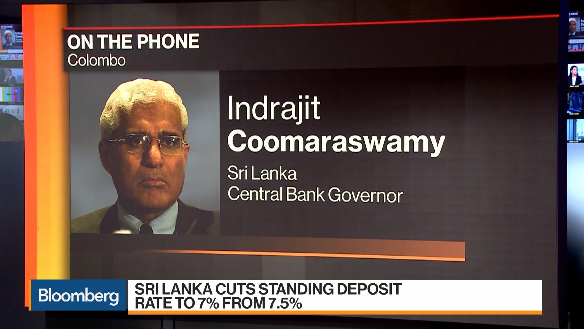 Sri Lanka Central Bank Governor on Interest Rate Cut, Inflation, Tourism