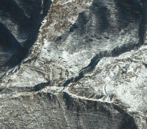 Satellite imagery of the Punggye-ri Nuclear Test Facility in North Korea in 2013.