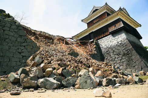 Kumamoto Castle Damaged By Magnitude 6.4 Earthquake In Japan