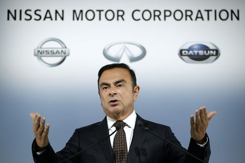 Nissan Motor Co. Chief Executive Officer Carlos Ghosn