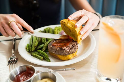 If you want a burger, you can get one of those, too. (Veggie or beef.)