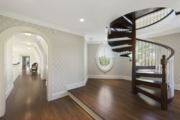 A spiral staircase ...