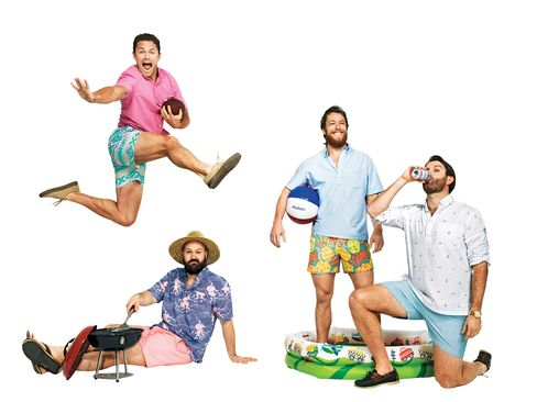 Chubbies founders (left to right) Montgomery, Castillo, Rutherford, and Hency.