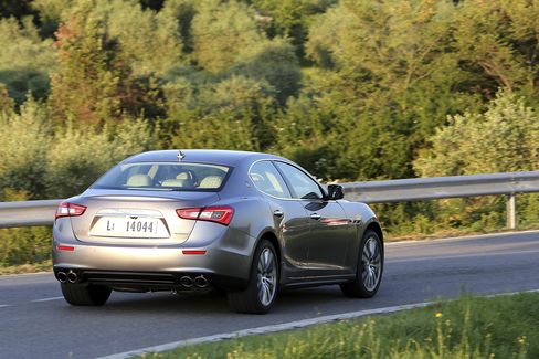 The Ghibli is a foot shorter—and more nimble on the road—than its Maserati Quattroporte sibling.