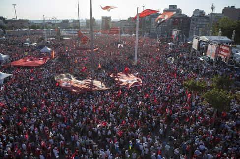 Demonstration in Istanbul on July 24.