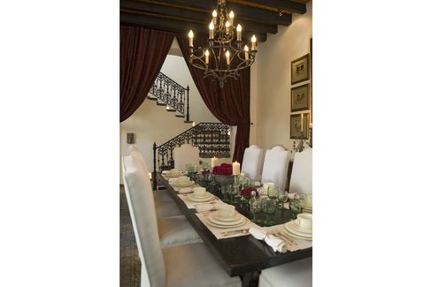 The formal dining room seats 12.