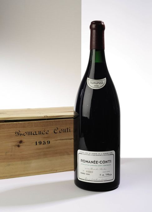 A 3-liter 1959 Romanée-Conti, DRC, estimated at $30,000 to $42,000