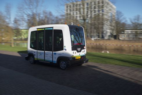 Self-driving Bus Takes To The Open Road