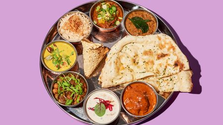 Babu Ji's curry sampler entices diners with tastes from many different Indian regions.