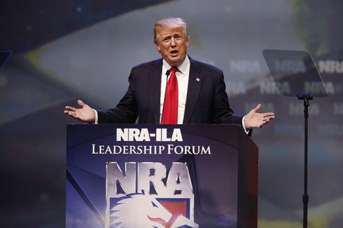 Presumptive Republican Presidential Nominee Donald Trump Speaks At The National Rifle Association Annual Meeting