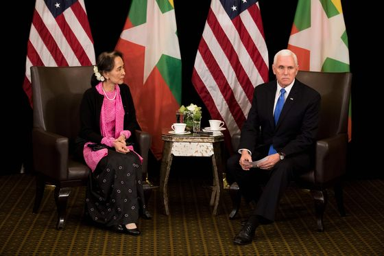 Pence Chides Myanmar's Suu Kyi on Human Rights in Tense Meeting