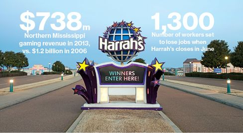 The Harrah's in Tunica, Miss., will become the second big U.S. casino to be shuttered this year