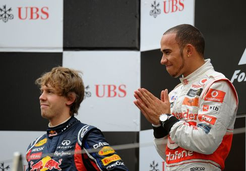 Hamilton Ends Vettels Run of Wins With F-1 Victory in China