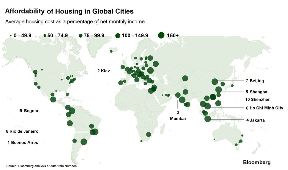 The Most Expensive Places to Buy a Home - Bloomberg