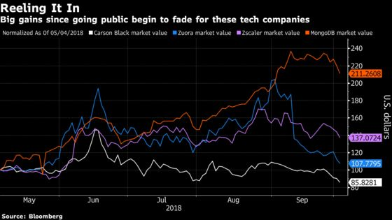 Newly Public Tech Firms Face Reality