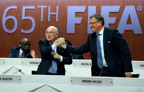 FIFA President Sepp Blatter, left, and Secretary-General Jerome Valcke may be interviewed in this investigation.