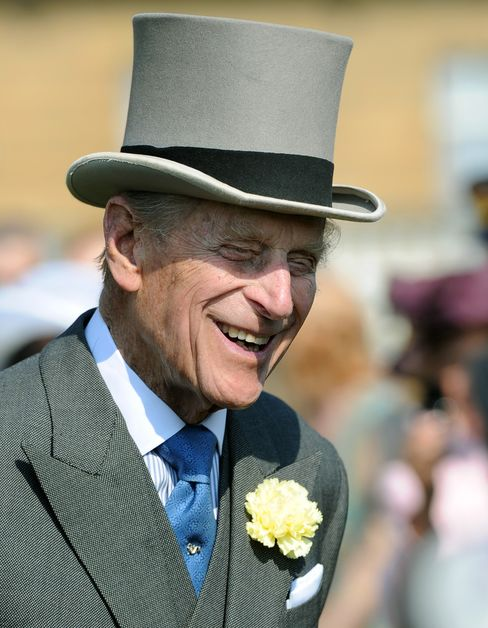 Prince Philip Attends A Garden Party in 2013