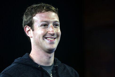 Zuckerberg's Wealth Soars $3.8 Billion on Demand for Mobile-Ads