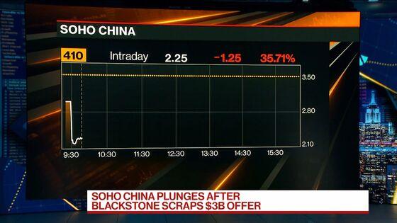Soho China Plummets 40% After Blackstone Takeover Falls Apart