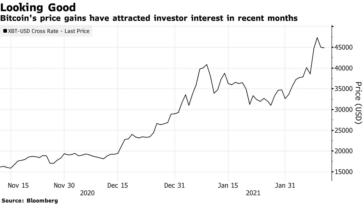 Bitcoin's price gains have attracted investor interest in recent months