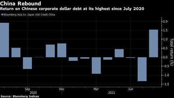 Chinese Credit Beats Asian Peers as Huarong Worries Recede