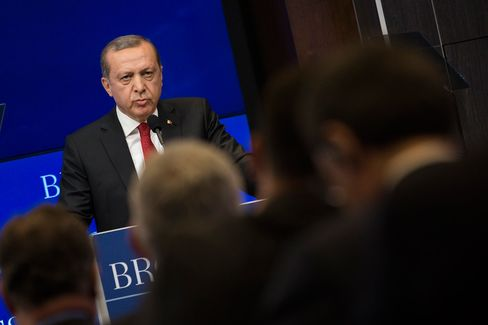 Turkish President Erdogan Delivers Address At Brookings Institution