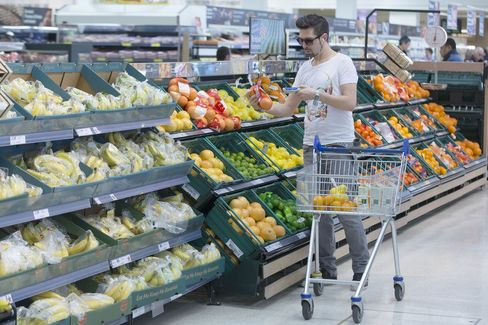 Retail Operations Inside A Tesco Plc Supermarket Grocery Store