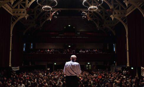 Jeremy Corbyn addresses supporters in Middlesbrough, U.K.
