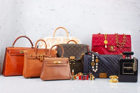 Bags by Hermès, Louis Vuitton, and Chanel, sold by WGACA.