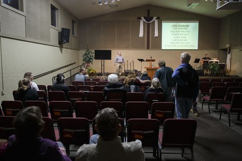 A service at Fort Des Moines Church of Christ