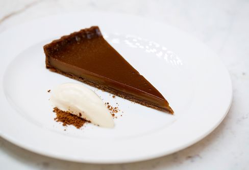 It's worth saving room for the desserts, such as muscavado tart with creme freche.