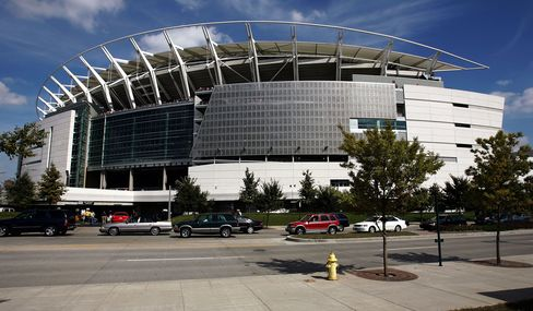 Paul Brown Stadium in Cincinnati.
