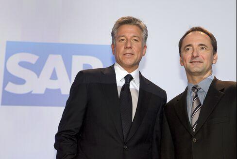 SAP AG Co-CEOs Bill McDermott and Jim Hagemann Snabe