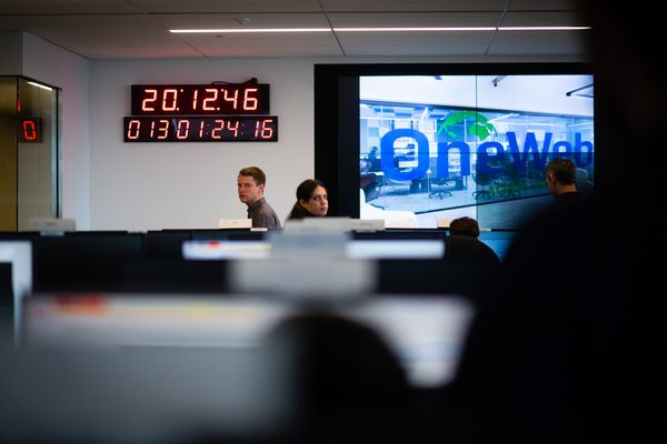 Greg Wyler, the founder of OneWeb is pictured in their Tysons office. OneWeb wants to launch a constellation of thousands of satellites to beam the internet to remote parts of the world, connecting the 4 billion people who don't have broadband access. The