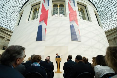 Cameron at the British Museum on May 9.