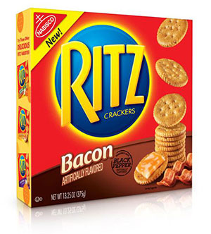 Bacon-flavored Ritz crackers