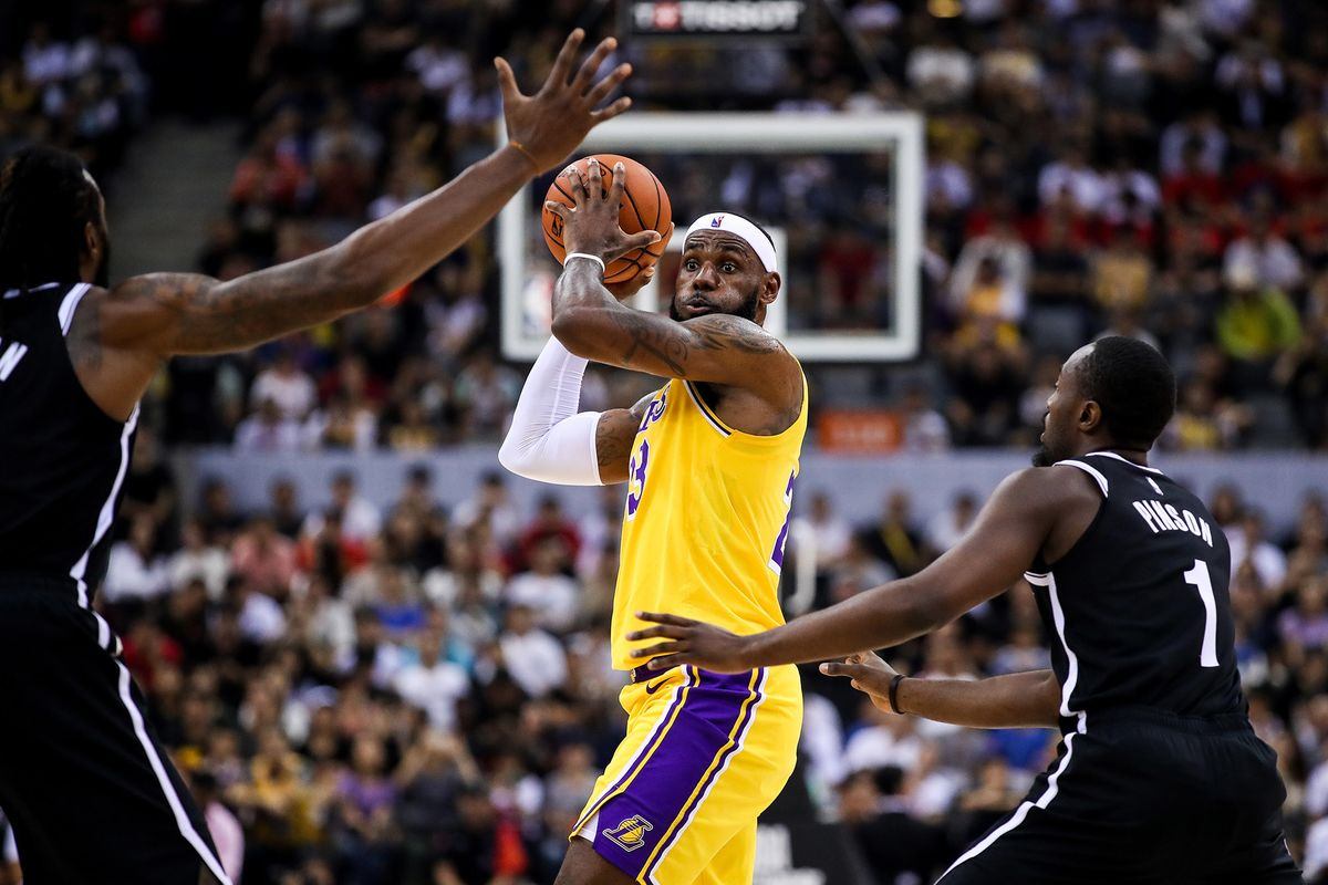 LeBron James Gives Shenzhen a Show but No Words in Nets Matchup