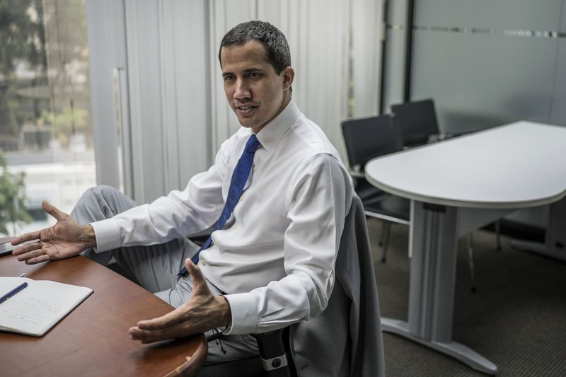 Guaido speaks in Caracas on June 6.
