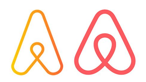 The Automation Anywhere logo left, and the new Airbnb logo