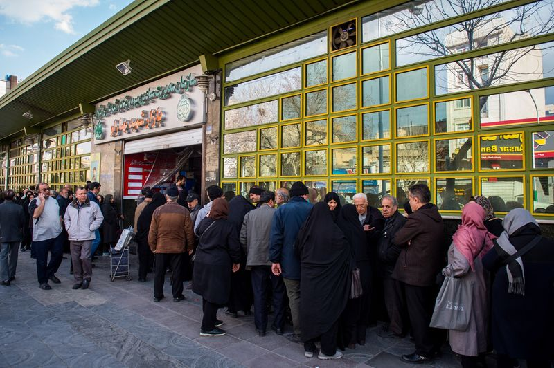 XXX FOOD QUEUES IN TEHRAN XXX FOR GOLNAR MOTEVALLI STORY