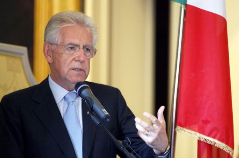 Monti Shifts Euro Crisis Fight From Markets to Public Sentiment