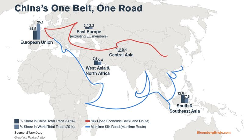 QuickTake QA How Chinas New Silk Road Leads Back To Beijing - Us new silk road map